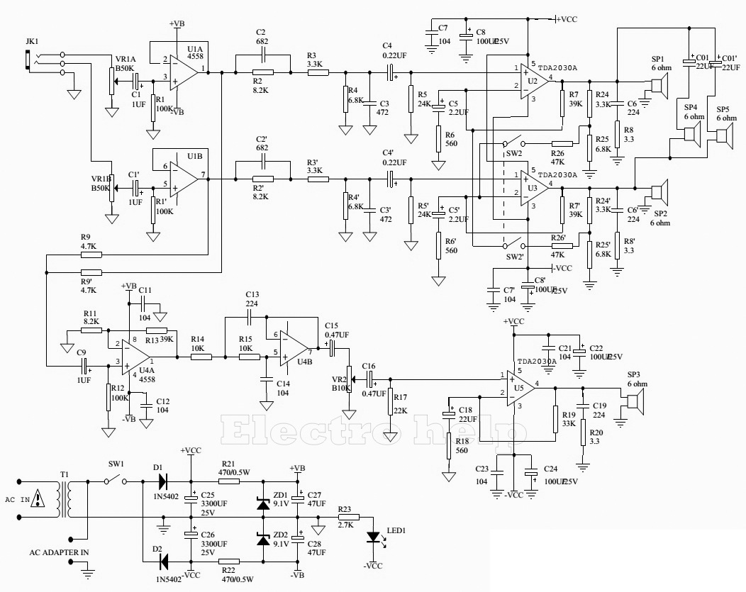 1052x835 Microlab X3 5.1 Microlab M8004.1 Microlab M1300 Schematic