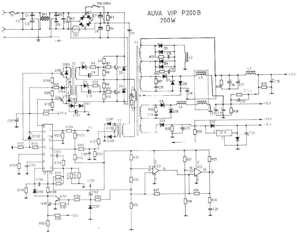 1000x783 The Old Pc Power Supply Circuit Elec Circuit