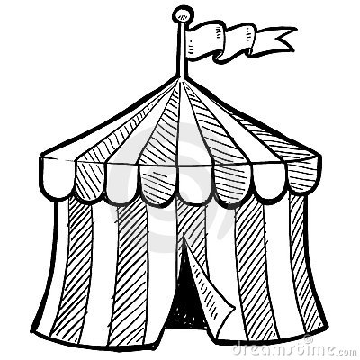 400x400 Circus Tent Sketch By Lhfgraphics, Via Dreamstime Kids Book