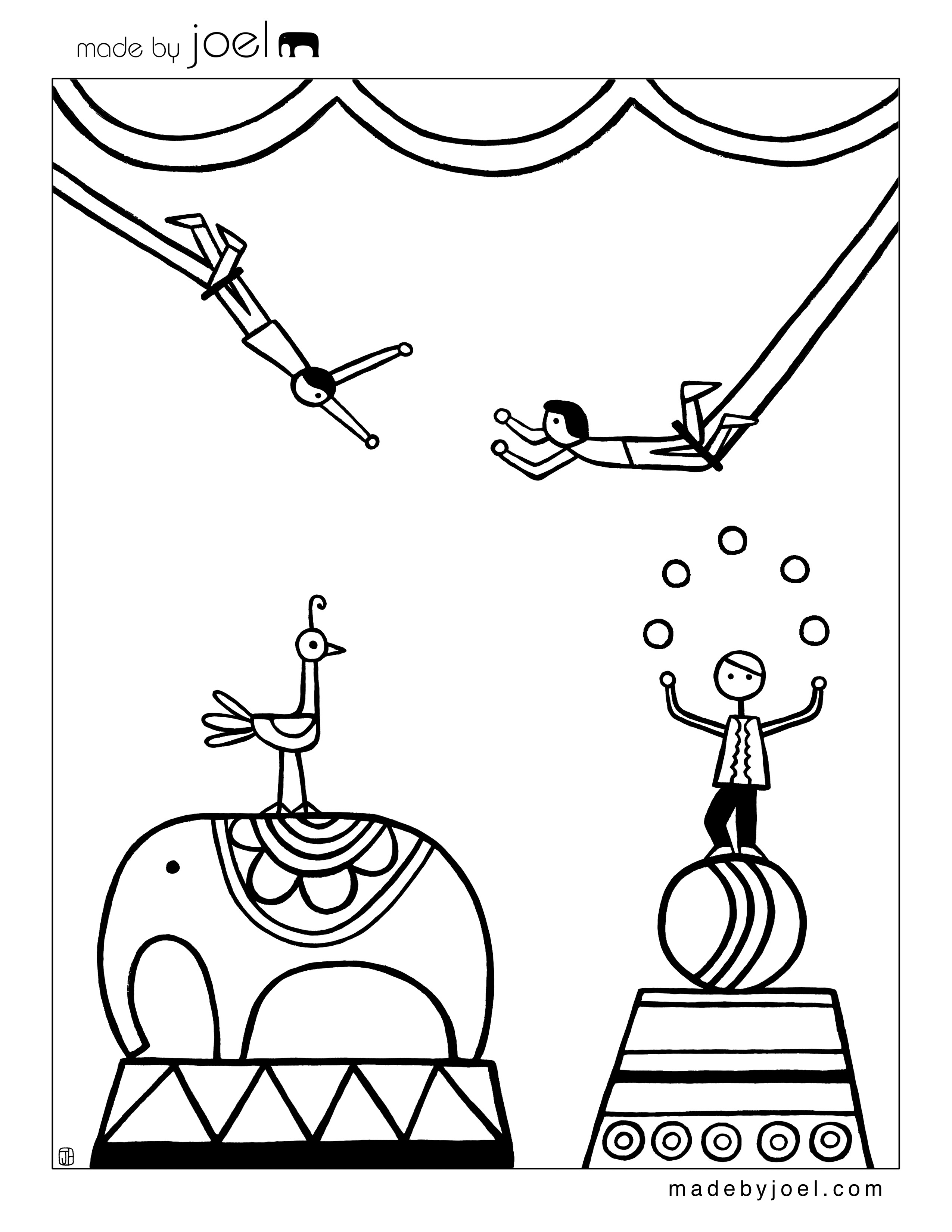 2550x3300 Coloring Pages Circus Coloring Pages Circus Coloring Pages
