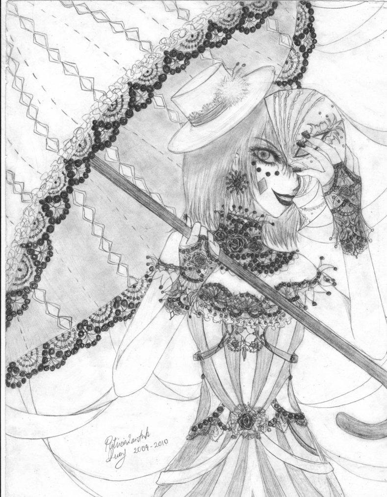789x1012 Lolita Circus Woman With Umbrella By Diamondfeatherart