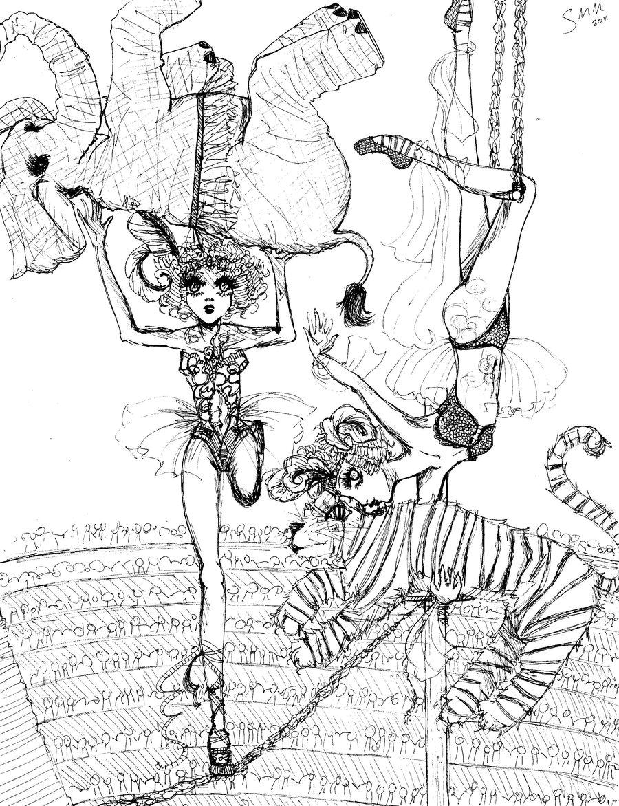 900x1172 Circus Pen Sketch By Sarahmariem