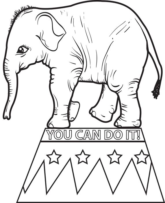 Circus Elephant Drawing At GetDrawings