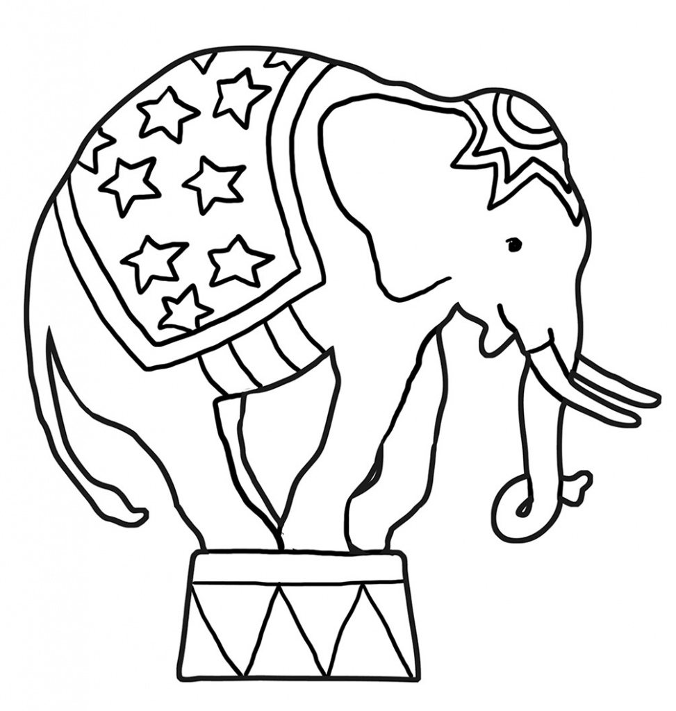 973x1024 Funny Elephant Coloring Pages Regarding Circus Elephant Coloring