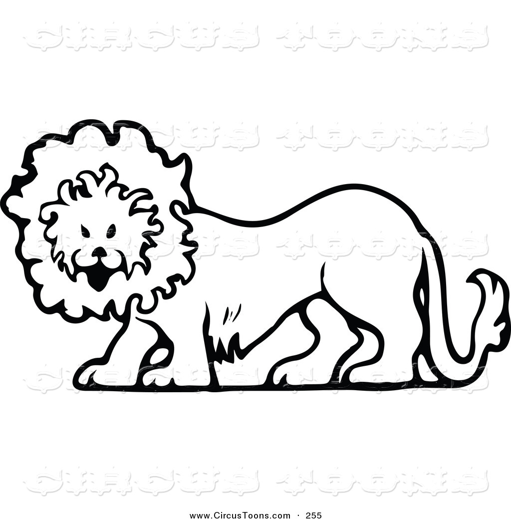 1024x1044 Circus Clipart Of A Vintage Black And White Circus Lion Walking