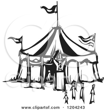 450x470 Clipart Of A Circus Ringmaster Announcing With A Bullhorn
