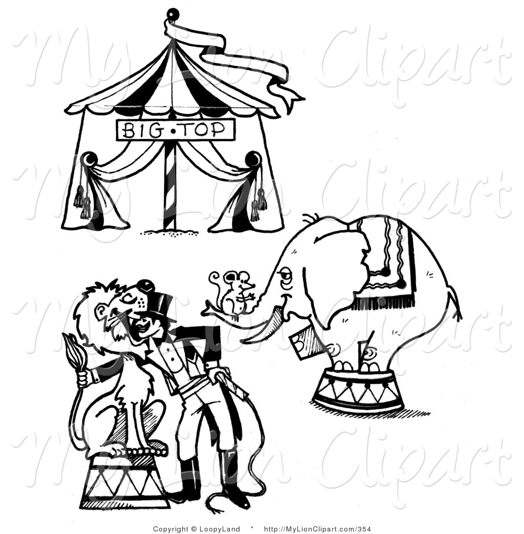 1024x1044 Clipart Of A Digital Collage Of A Circus Big Top, Mouse On