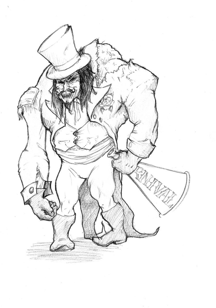750x1065 Horror Circus Ringmaster Concept 2 By Laughingartist Jones