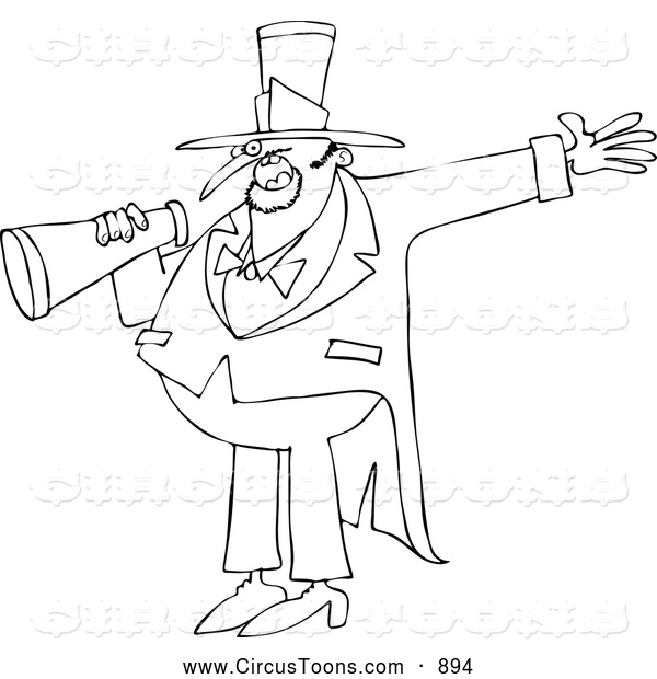 600x620 Circus Clipart Of A Coloring Page Circus Ringmaster Man Making