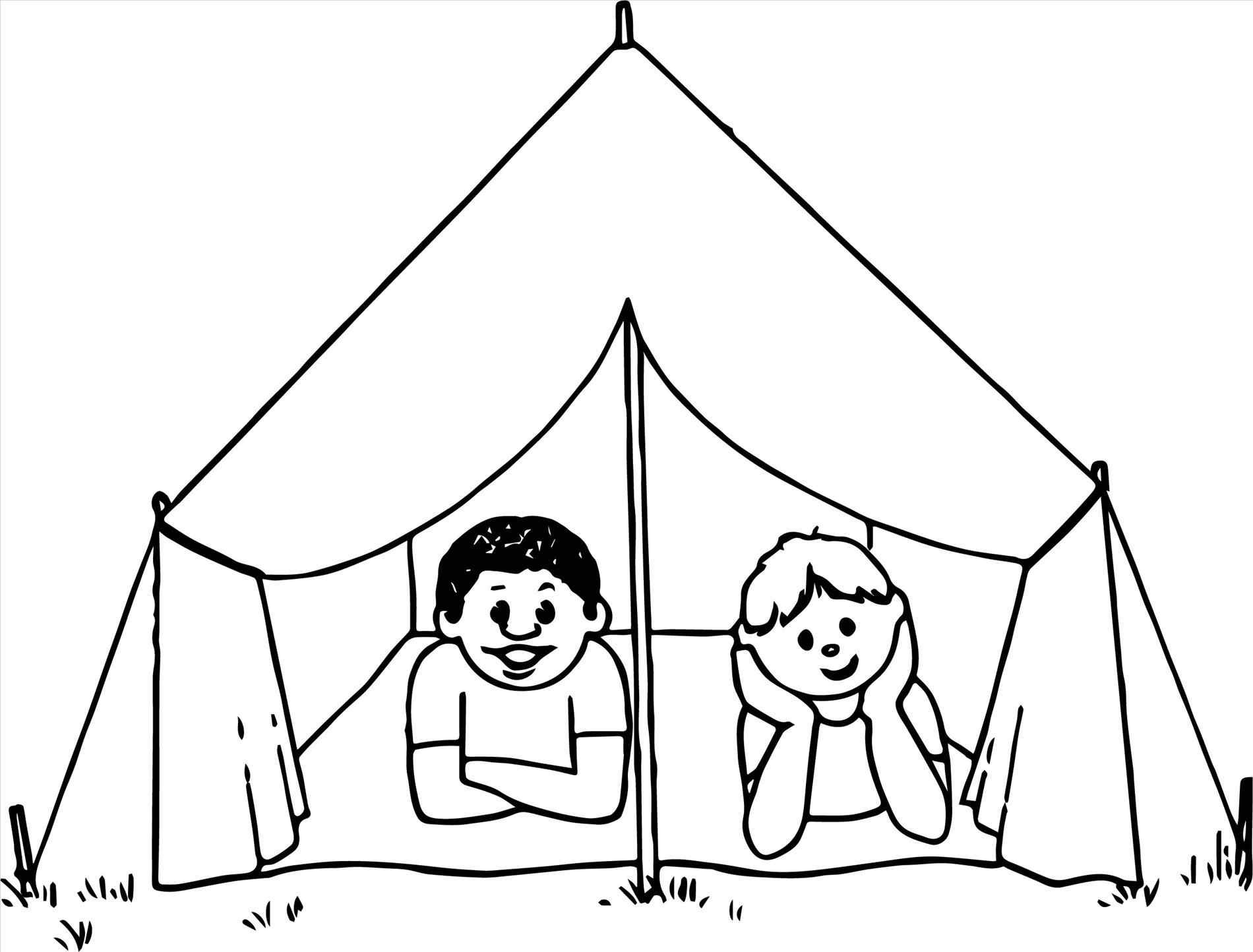 1900x1444 Tent Coloring Page Free Draw To Color