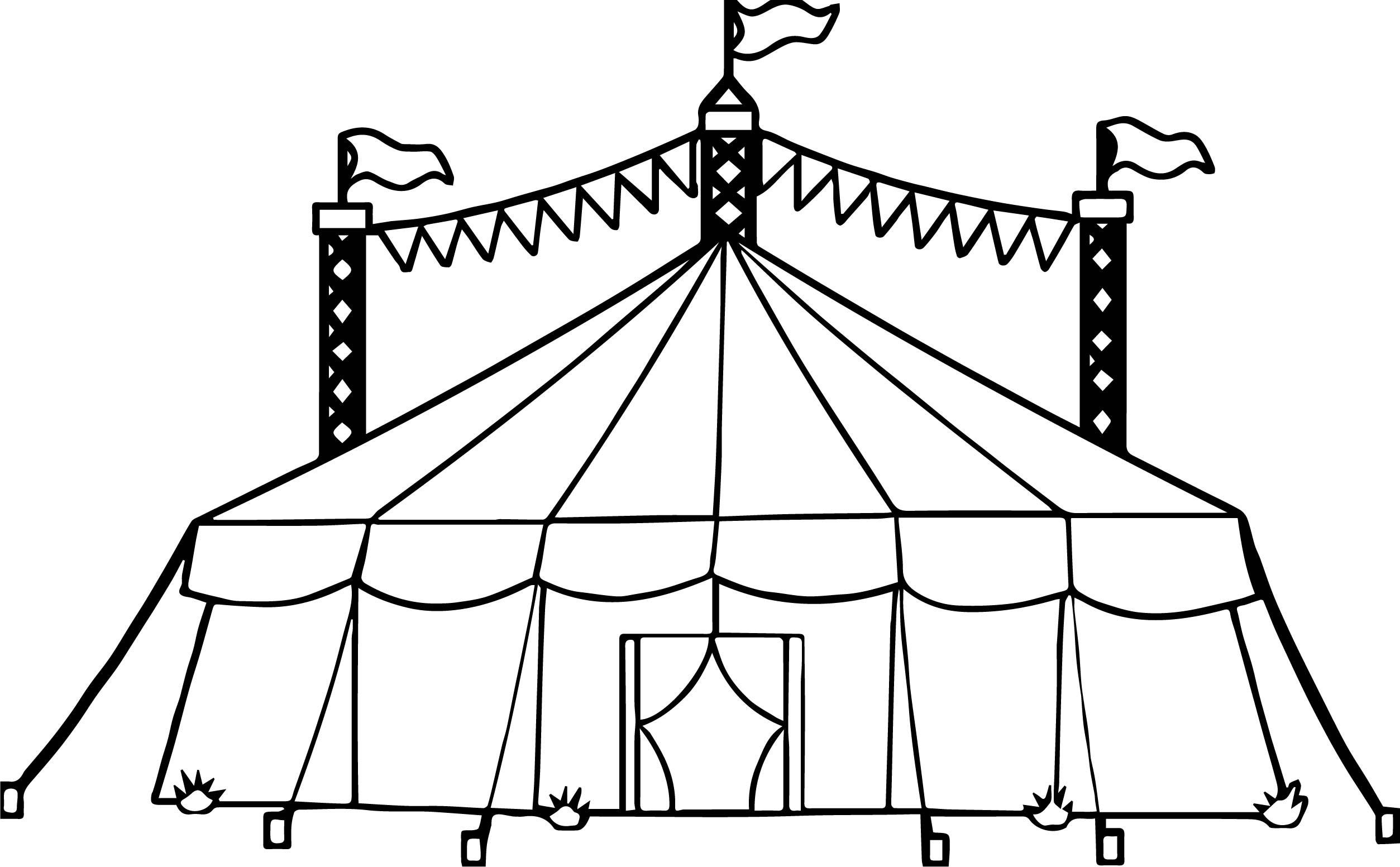 2507x1553 Tent Coloring Page Awesome Amusement Circus Tent Coloring Page