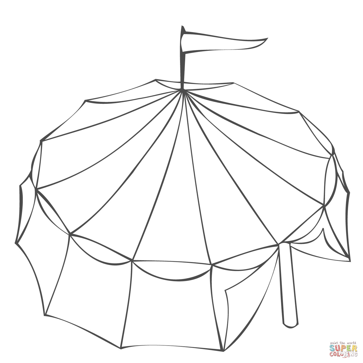 1500x1500 Tent Coloring Page Awesome Circus Tent Coloring Page Free Draw