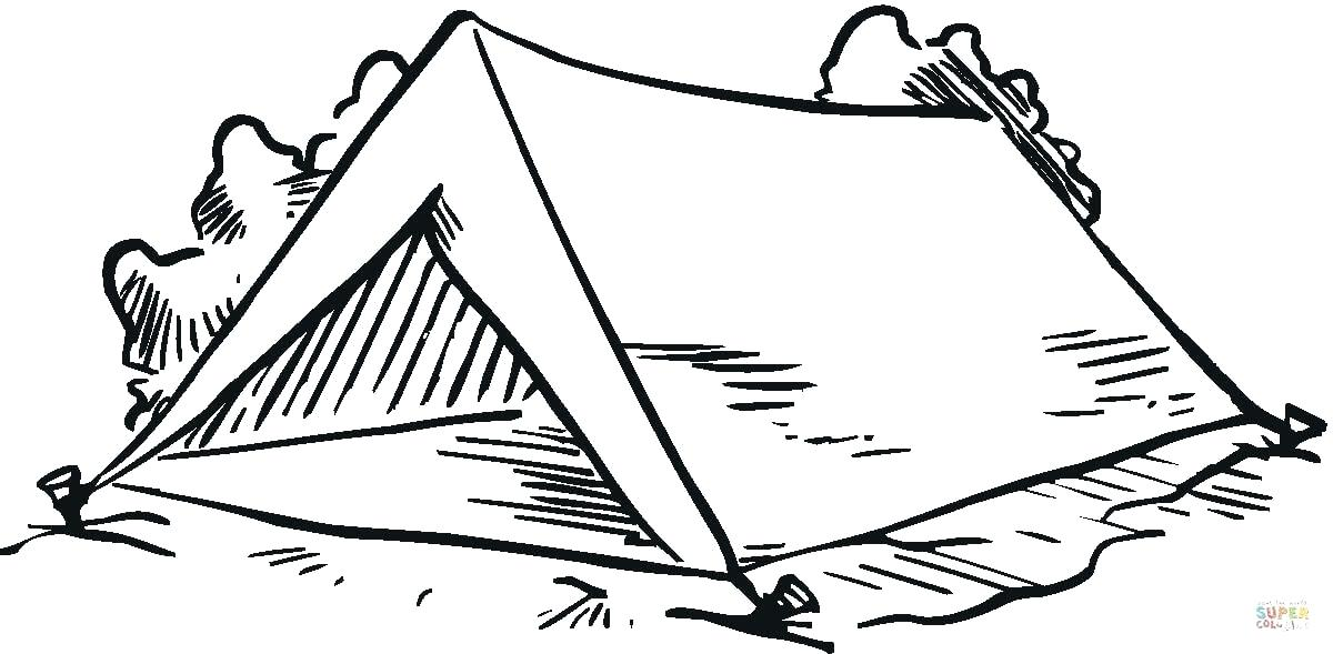 1200x589 Tent Coloring Page Click The Tent In The Forest Coloring Pages