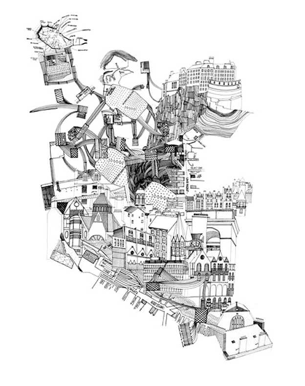 624x789 Drawing Cities