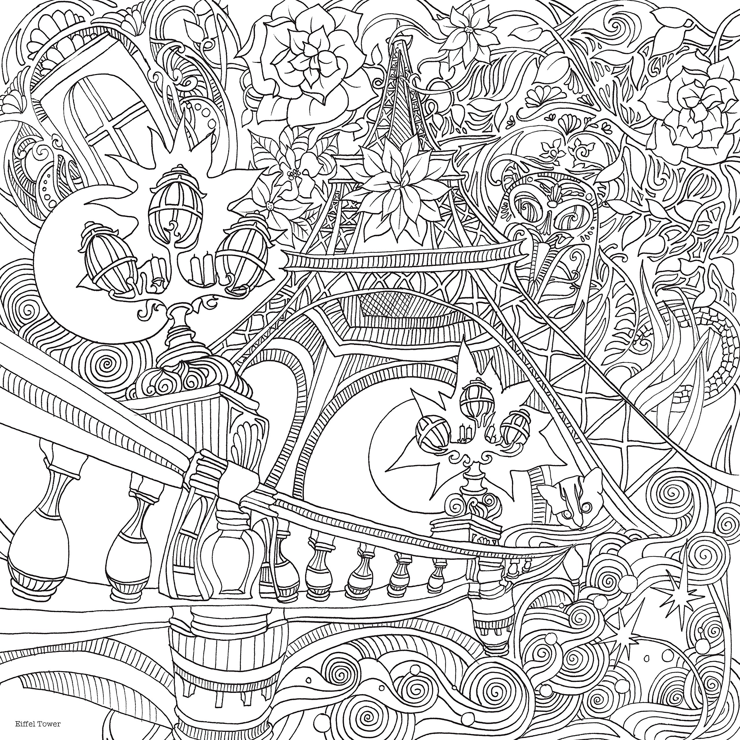 2560x2560 The Magical City A Colouring Book