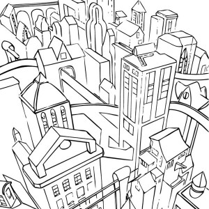 300x300 Drawing City Scenes Coloring Page For Kids Drawing City Scenes
