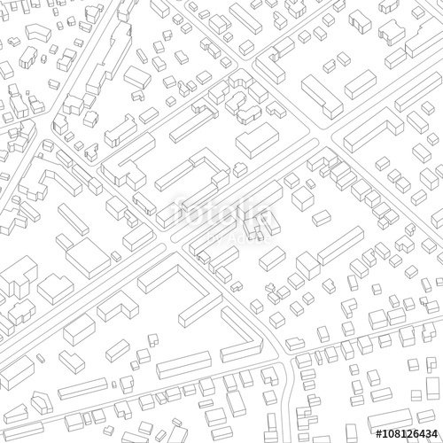 500x500 Imaginary City Plan. City Background Stock Image And Royalty Free