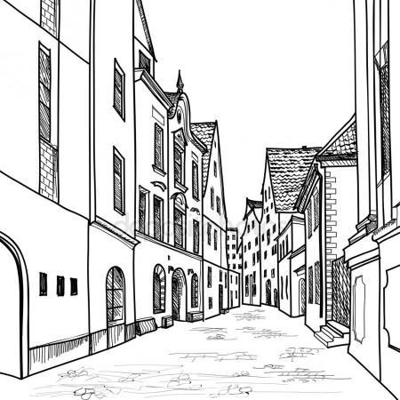 450x450 Depositphotos 42519599 Stock Illustration European Downtown