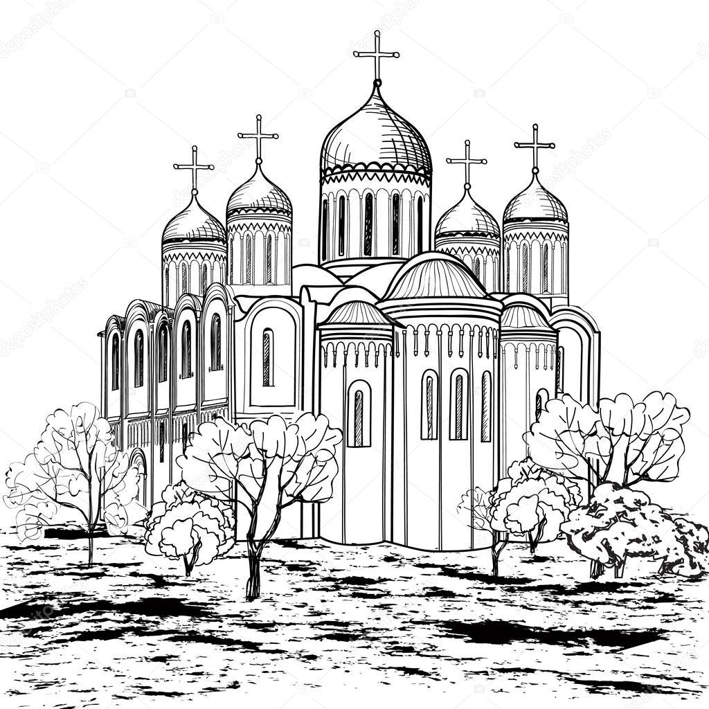1024x1024 Ancient Russian City Icon Stock Vector Yokodesign