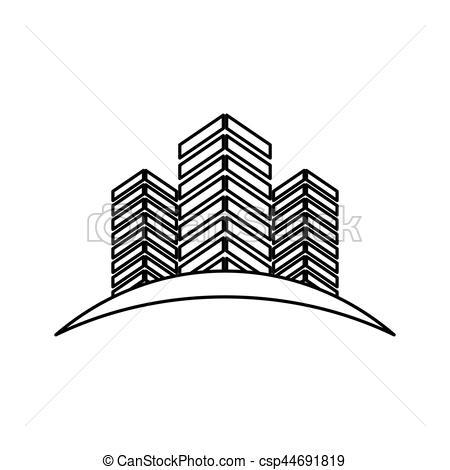 450x470 City Buildings Symbol Icon Vector Illustration Graphic Vector