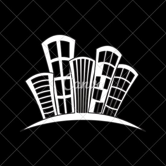 550x550 City Buildings Symbol