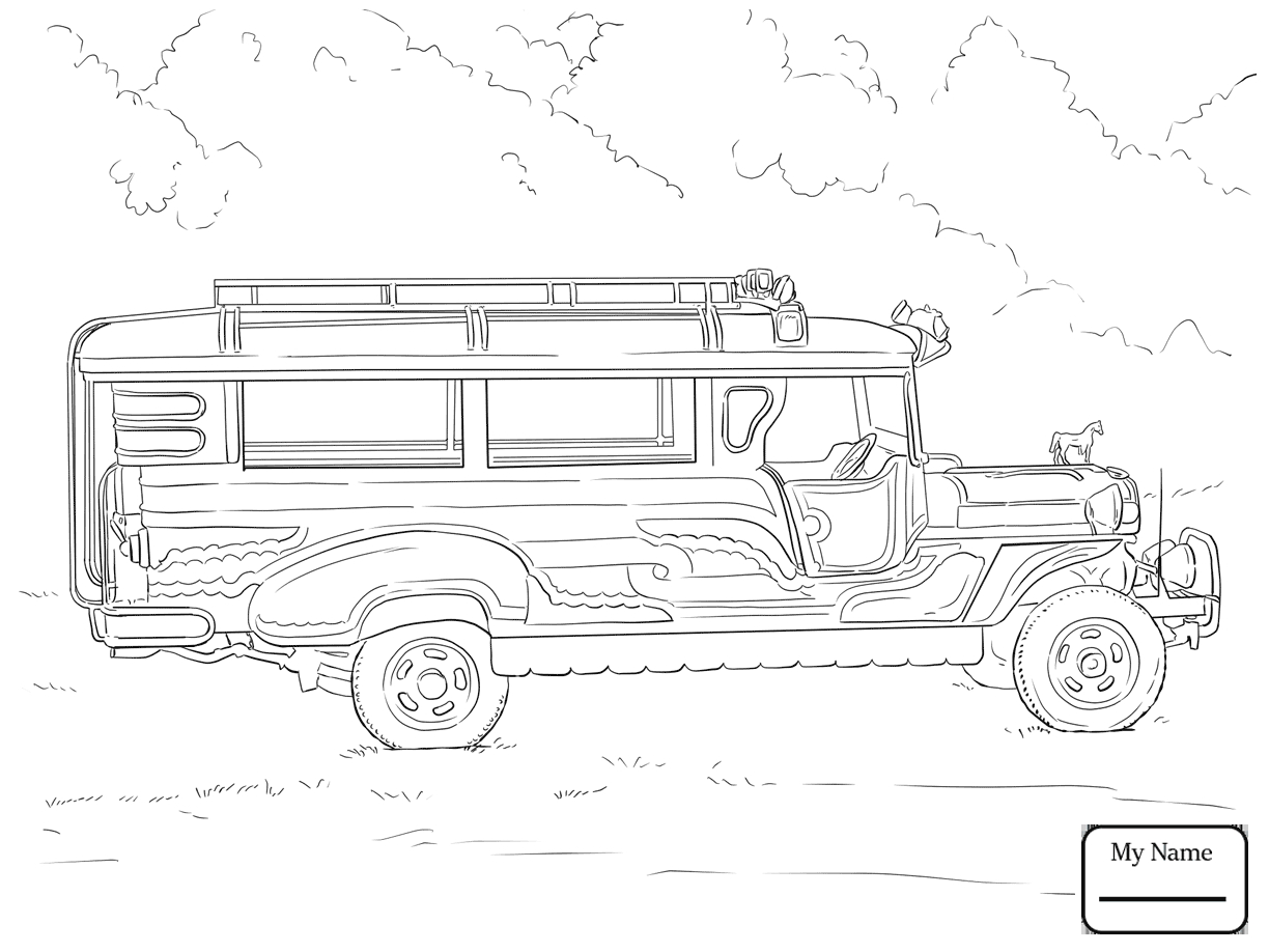 1224x918 City Bus Transport Coloring Pages
