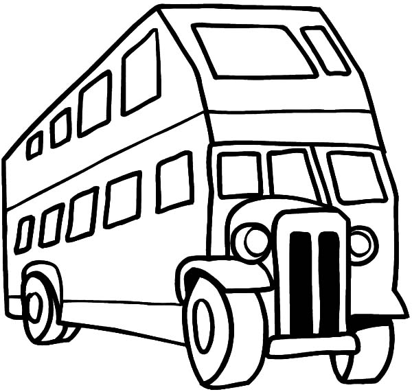 600x571 An Antique City Bus Coloring Pages