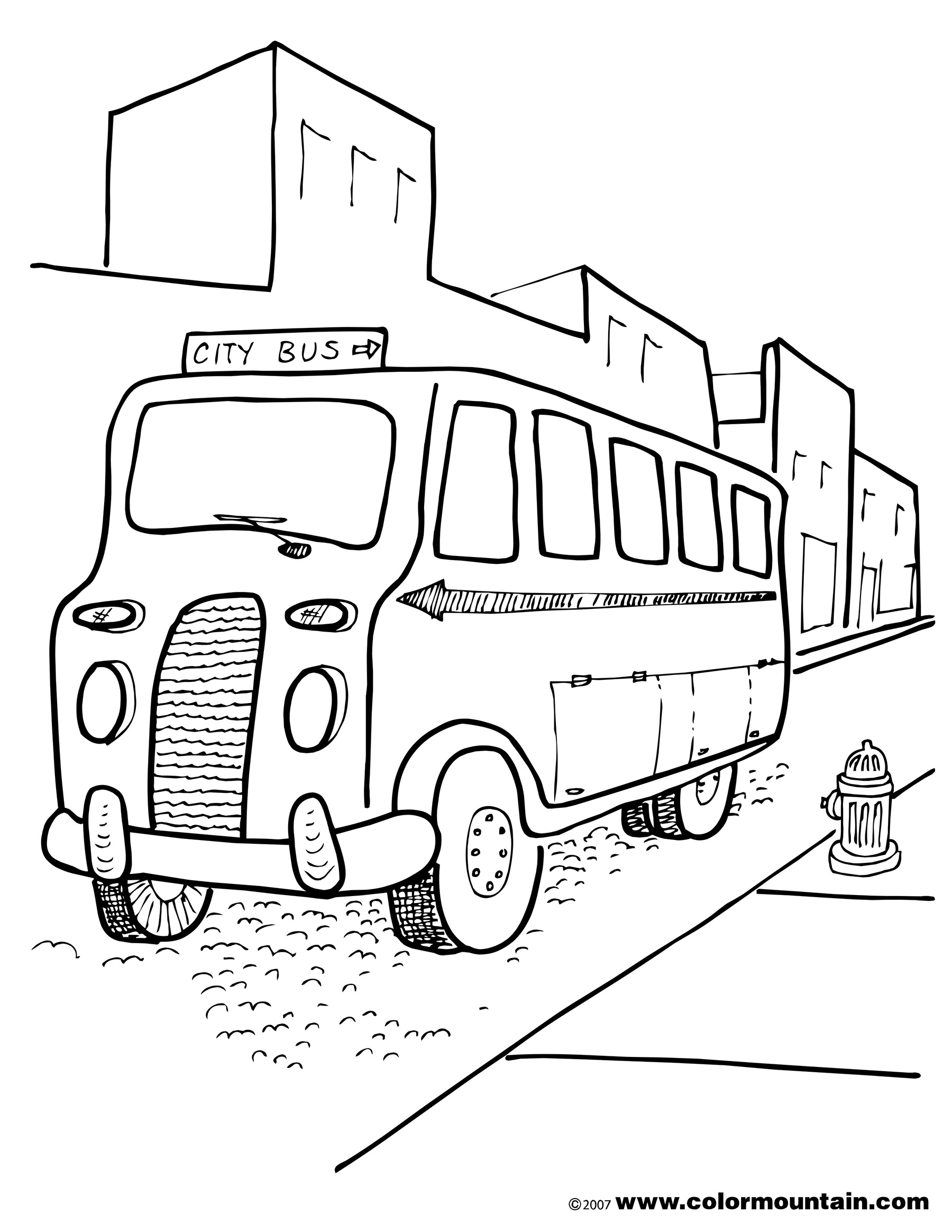 1800x2329 Free City Bus Printable Picture