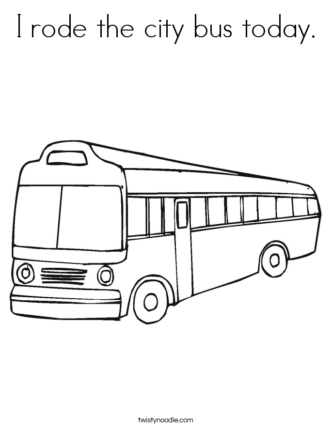 685x886 I Rode The City Bus Today Coloring Page
