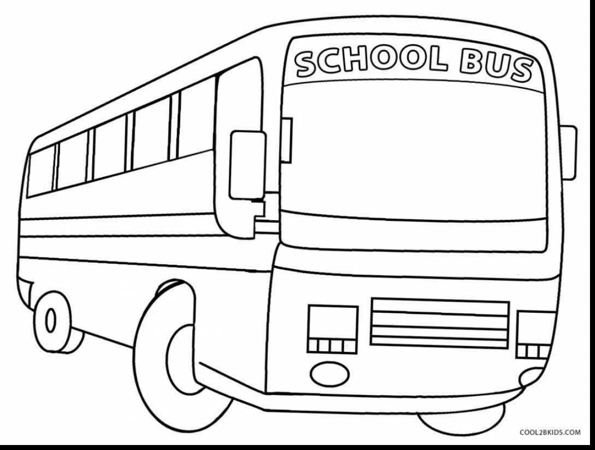 1188x899 Superb Printable School Bus Coloring Pages With Bus Coloring Page