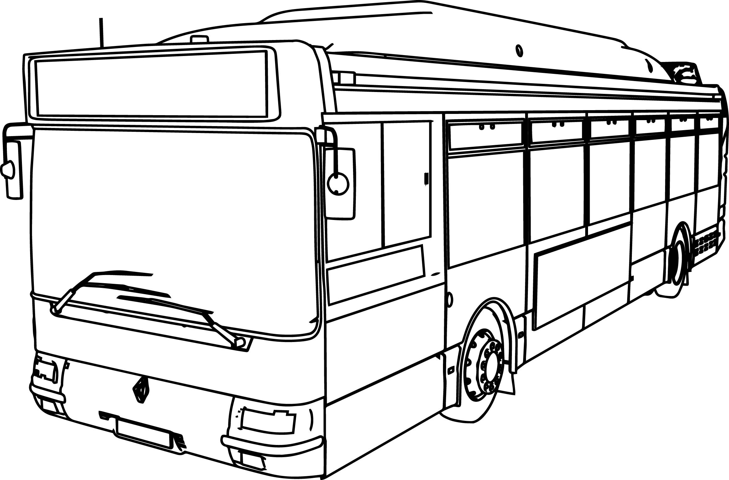 2327x1534 Bus Coloring Page Free Draw To Color