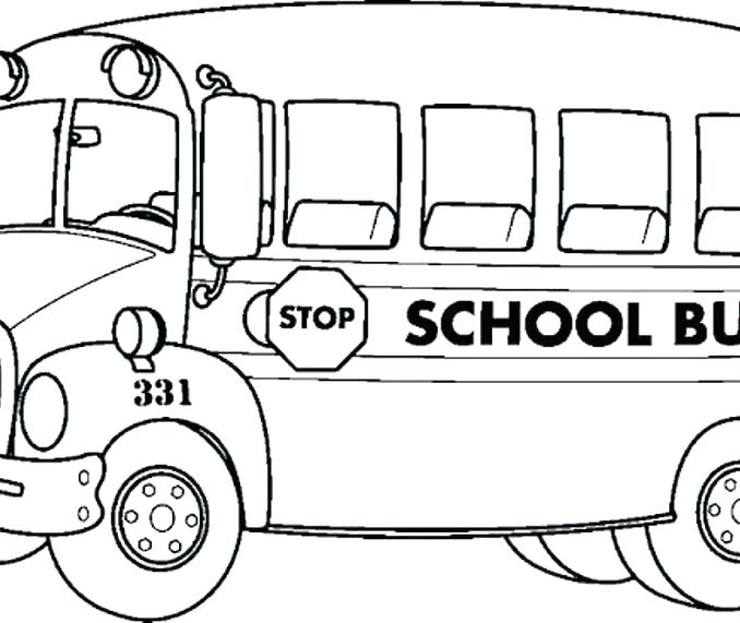 678x571 Bus Safety Coloring Pages