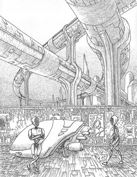 465x600 City Robot Drawings