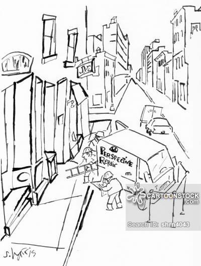 400x528 City Street Cartoons And Comics