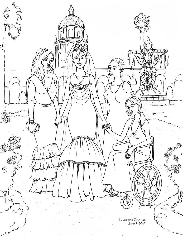 770x1027 Saatchi Art La2415 Pasadena City Hall Drawing By Joshua Wong