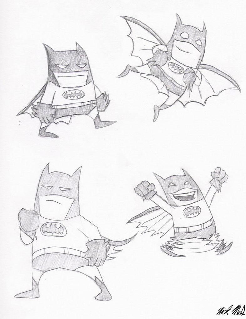 786x1017 Cartoon Batman By Nick Mcd