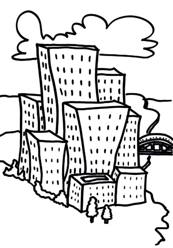 600x862 Cartoon City Apartment Coloring Pages Best Place To Color