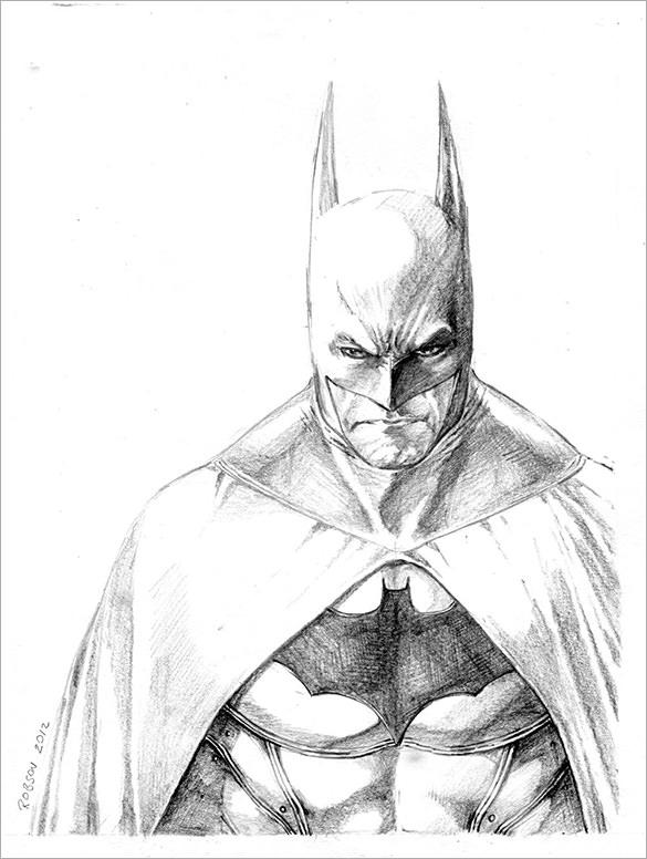 585x776 Fantastic Batman Drawings Download! Free Amp Premium Templates