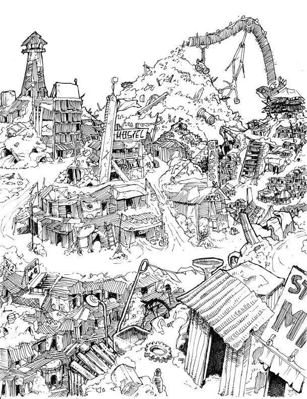609x790 Garbage City By Flyinplatipi