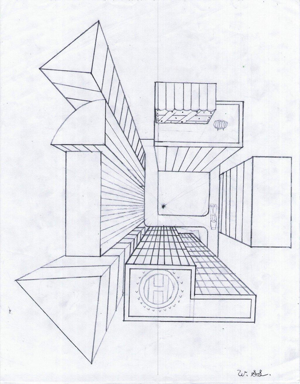 1024x1311 Geometric City By Wlewis92