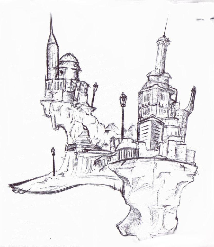 832x961 The City In The Sky By Rumplestintski