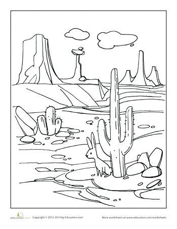 350x453 Desert Landscape Drawings How To Draw A Desert Scene Step Step