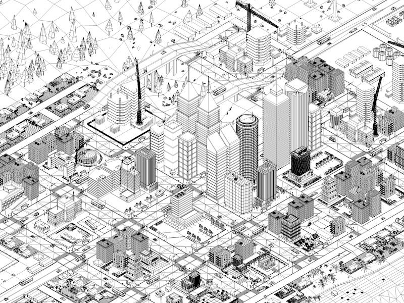 800x600 Low Poly Megapolis City Premium Pack (Landscape, Buildings