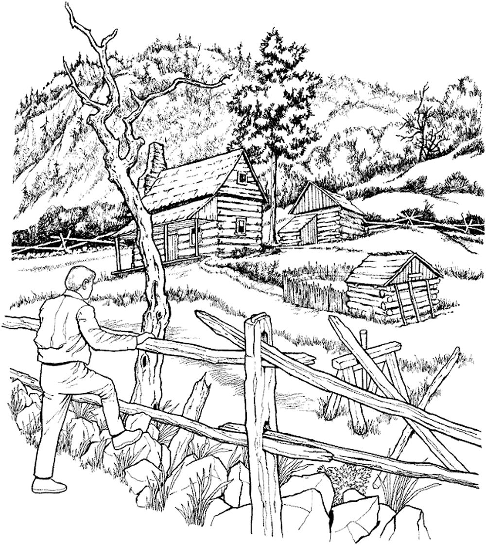 1000x1121 City Landscape Coloring Pages Architecture And Living