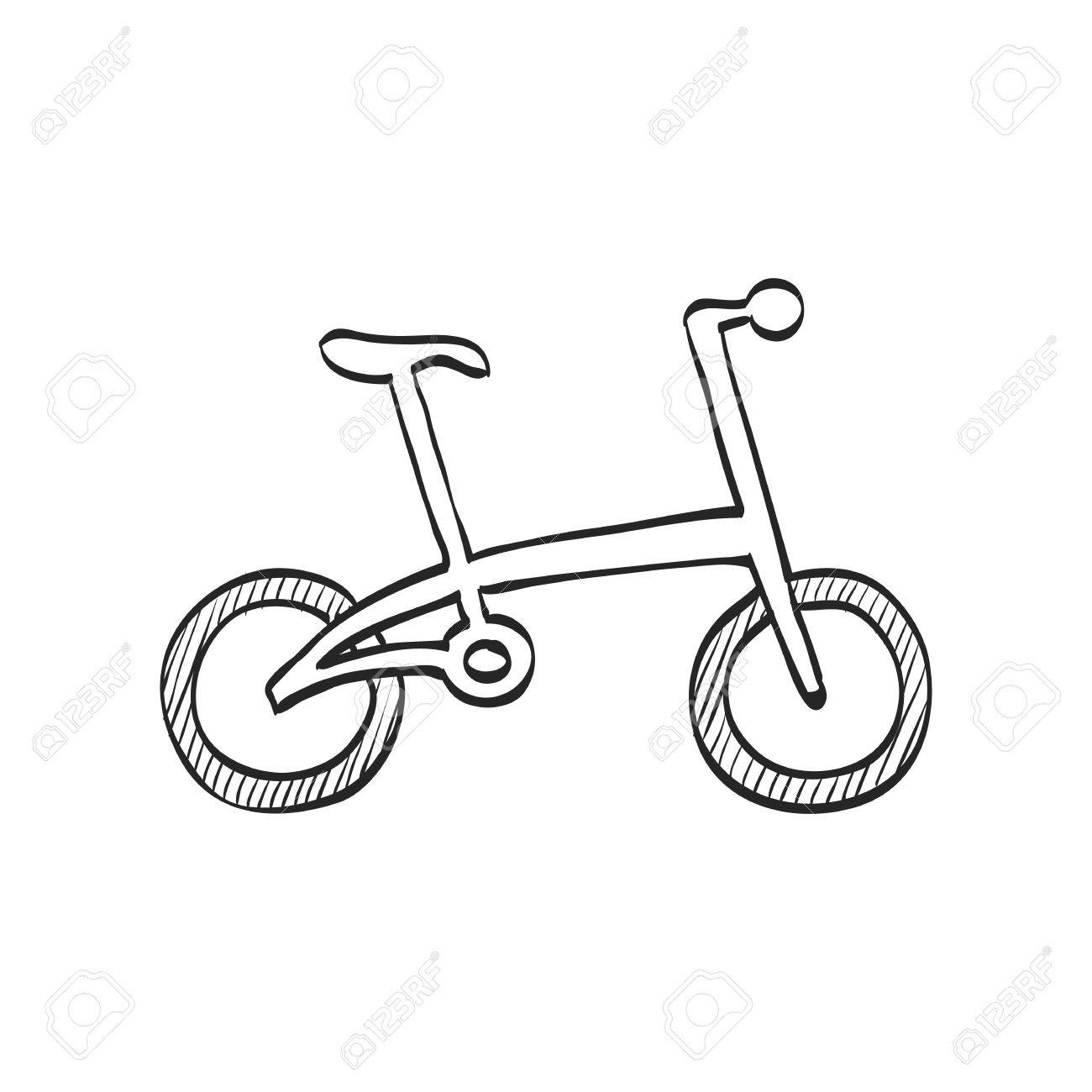 1300x1300 Bicycle Icon In Doodle Sketch Lines. Sport Cycling Road City