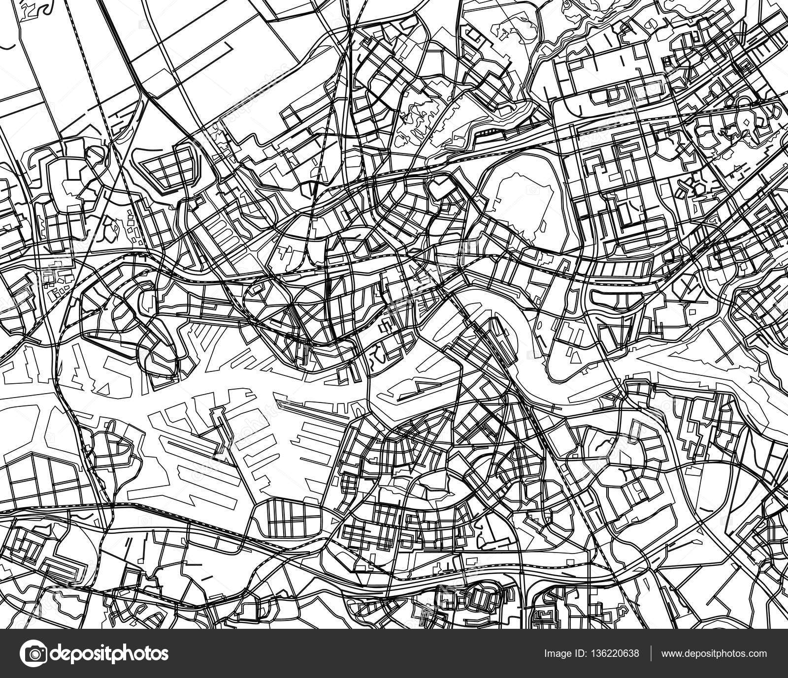 City Map Drawing
