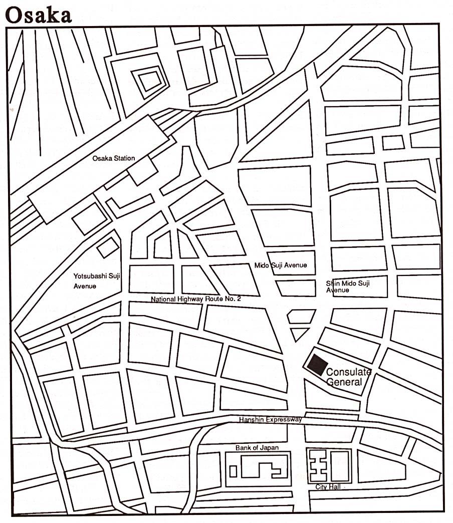 904x1044 Osaka City Map