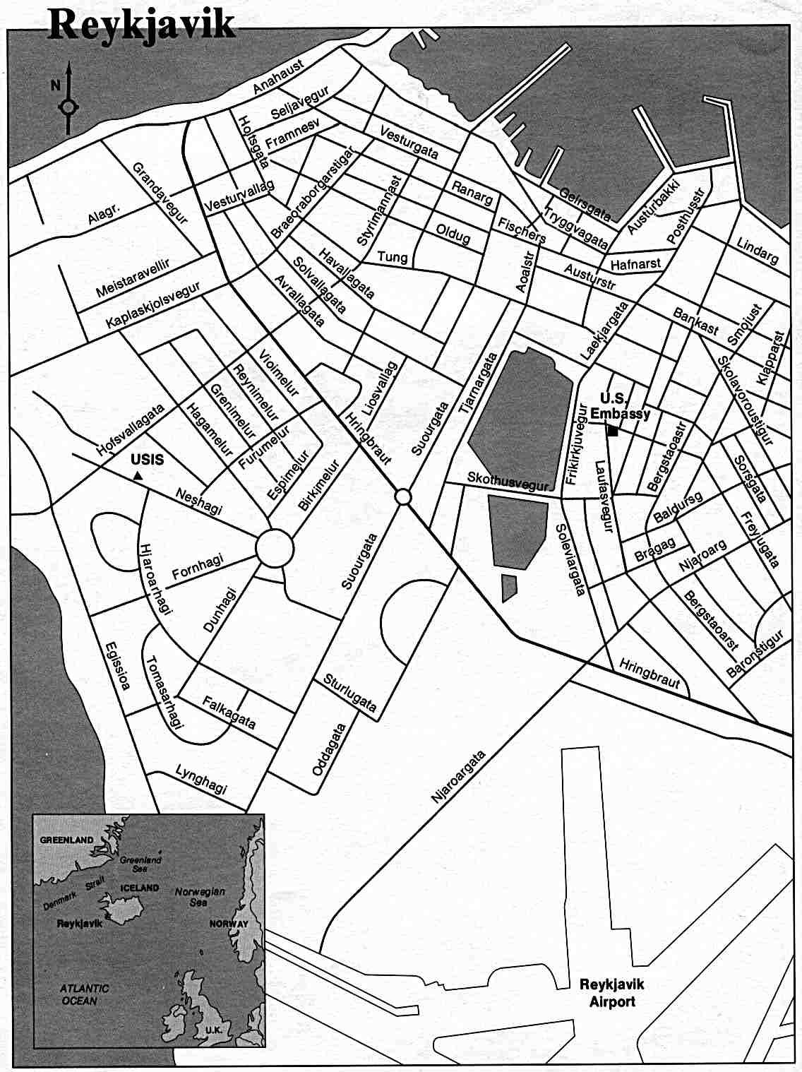 1136x1518 Reykjavik City Map
