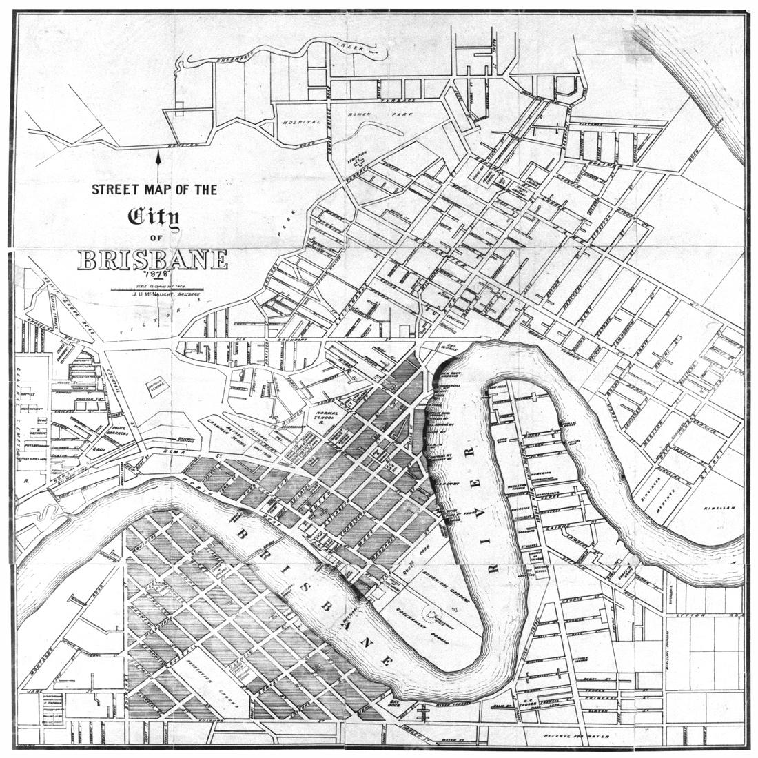 1100x1100 Brisbane City Map 1878