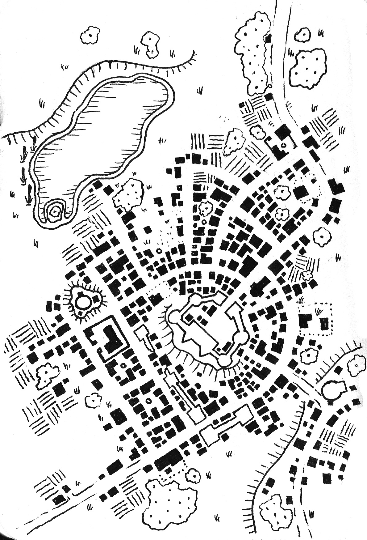 1189x1747 Tuesday Map] The City Of Springhollow Dyson's Dodecahedron